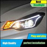 Car Head Lamp For Subaru XV Headlights 2012 2015 High Quality LED Headlight DRL Bi Xenon Lens High Low Beam Parking Front lamp