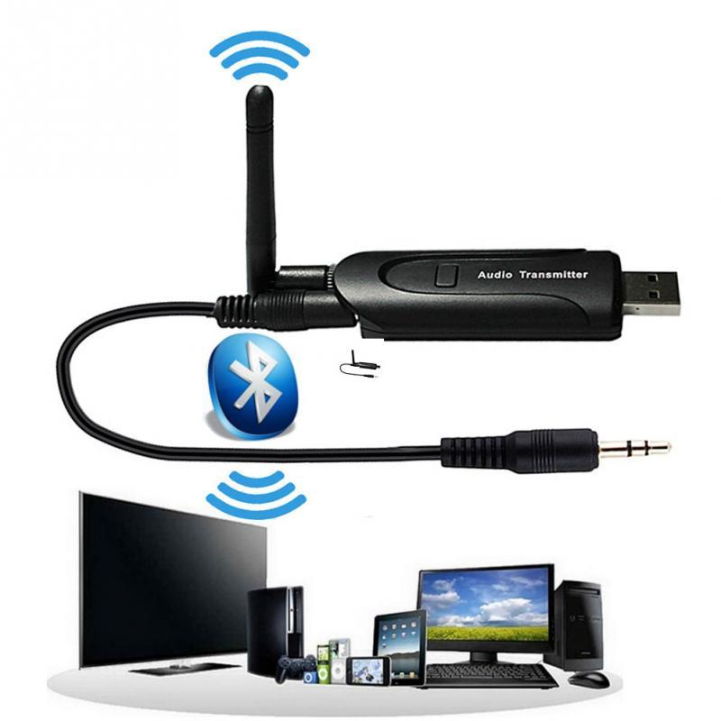 usb aux wireless portable mini black bluetooth music audio sender transmitter adapter in. Black Bedroom Furniture Sets. Home Design Ideas