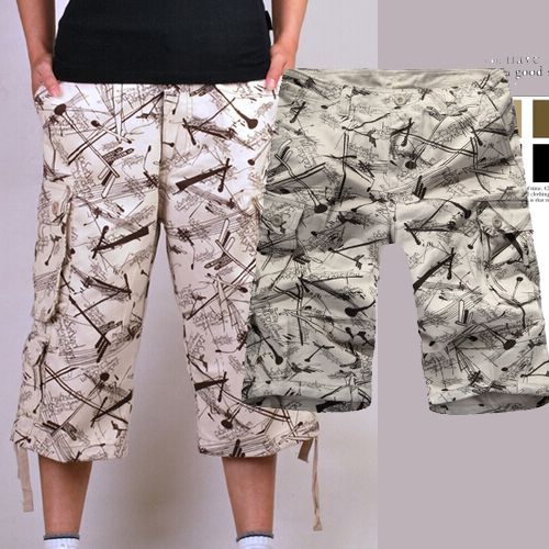 Verano hombre pantalones multi bolsillo pantalones de carga recortada pantalones de trabajo blanco lava suelta rectos pantalones casuales