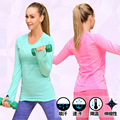 Fitness casual t shirt compression tights women's exercise t shirts long sleeve t-shirts undershirt women clothes tees & tops