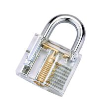 цена на Transparent Locks Pick Visible Cutaway Mini Practice View Padlock Hasps Training Skill For Furniture Hardware Locksmith