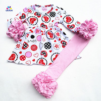 2018 New Design Two Piece Girl Boutique Valentine S Day Custom Outfits Long Sleeve Online Shopping