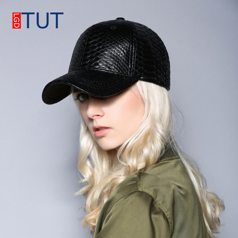 Fashion New PU Leather Cap Women's Baseball Cap Pure Black Casual Caps Women & Men Baseball Hats Snapback Hip Hop Student Hat wholesale women men fashion snapback cap hat new design custom novelty sport baseball cap girl boy hip hop camouflage visor hats