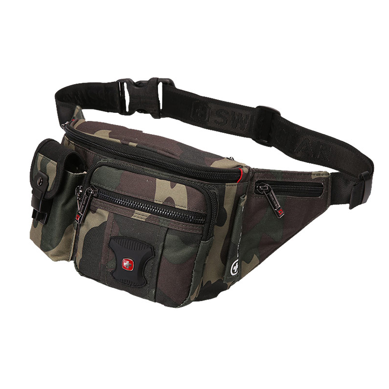Swiss Waist Pack Male High Quality Camouflage Belly Bag Waterproof Motorcycle Fanny Pack Multi Pocket Bum