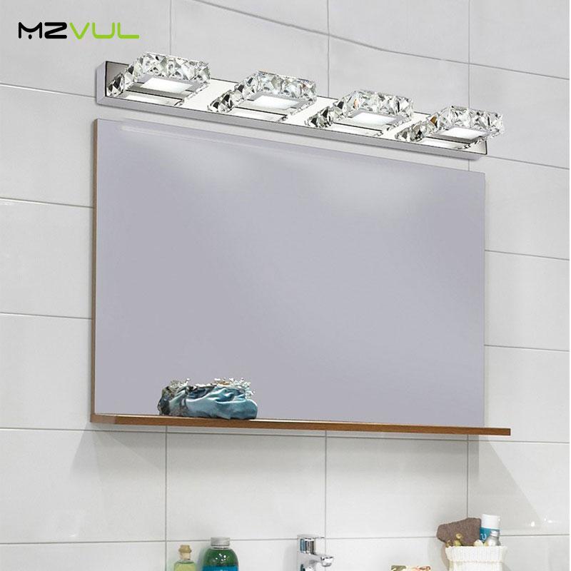 6W 9W Waterproof LED Bathroom Sconce Lamps Vanity Crystal Wall Light Mirror Light Fixtures For Bedroom Bathroom Light CE ROHS led mirror lights modern bathroom k9 crystal sconce wall lamps light stainless steel indoor lighting fixtures 6w 9w z4