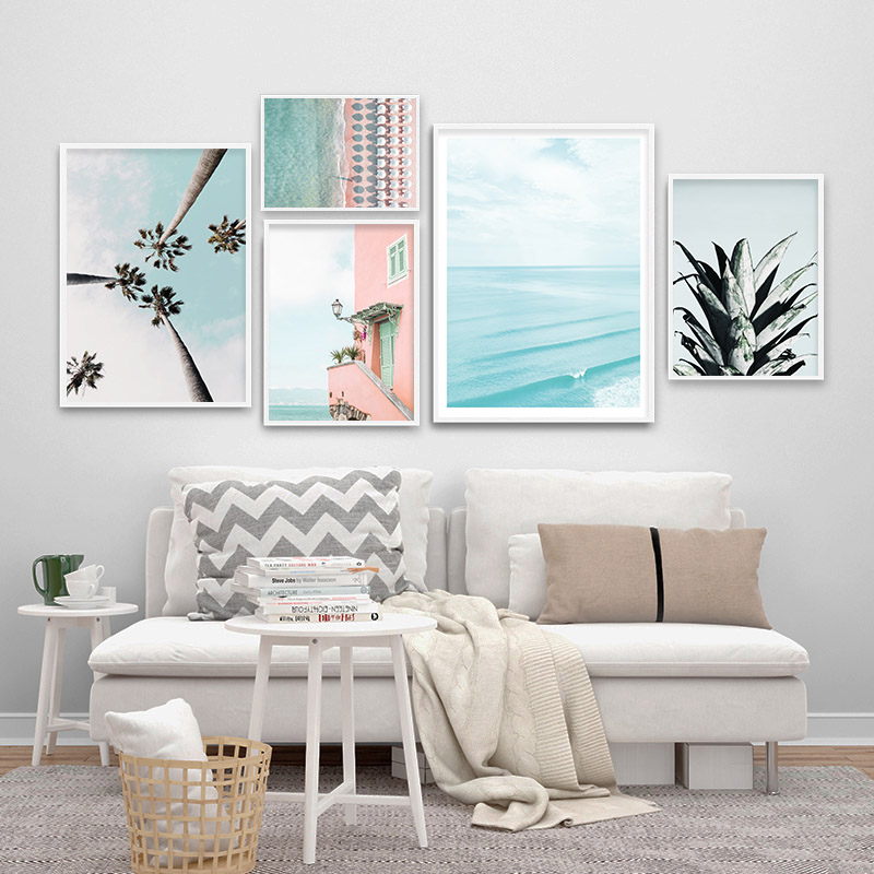 SET OF 2 BEACH OCEAN WALL ART PRINT PERFECT GIFT FOR HOME DECOR