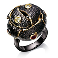 Rings for party black copper Ring with cubic zircon finger ring fashion jewelry Free shipment full size