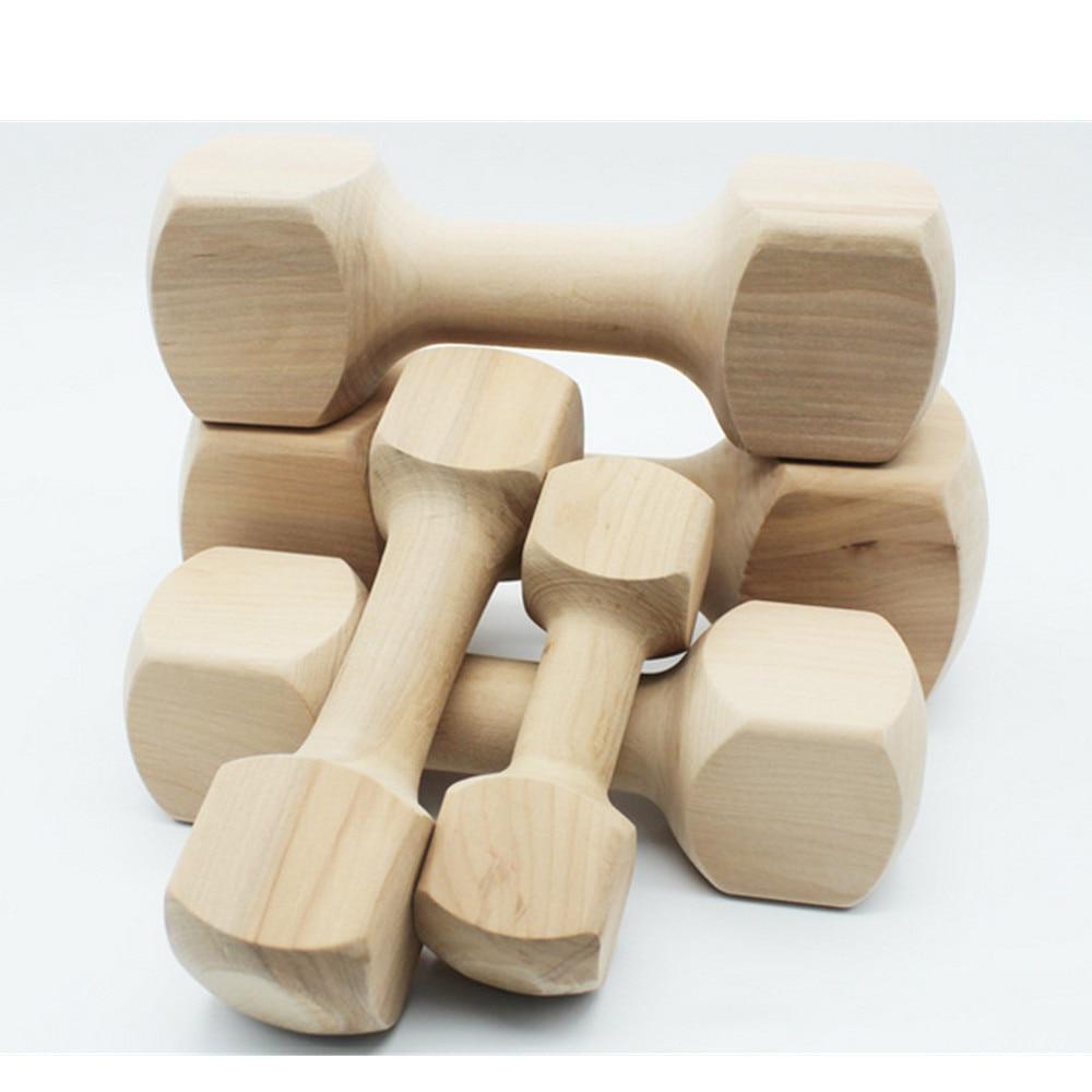 5 pièces Hateli bois massif os haltère chien jouet Pet morsure caoutchouc molaire os morsure résistant jouet - 3