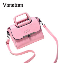 High Quality Solid Color Tote Bag for Women Pu Leather Handbag Fashion Casual Woman Shoulder Bag Ladies Messenger Bags Brand