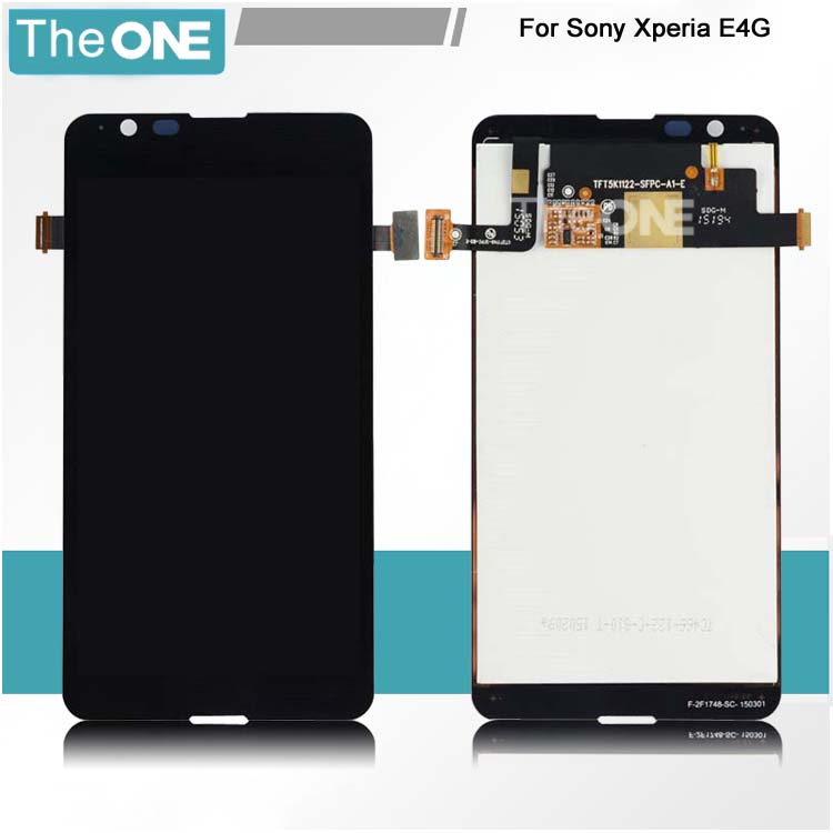 10pcs/lot 4.7 Black LCD Display + Touch Screen Panel Digitizer Assembly For Sony Xperia E4G E2124 E2003 E2033 Free DHL dhl 10pcs digitizer for sony xperia z3 lcd screen display touch panel glass white black color free shipping