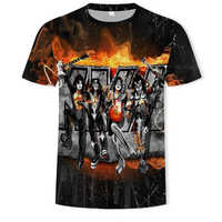 Rock Band camiseta Kiss Clothes camisetas Tops ropa hombres 3d camiseta camisetas hombre Ftness nuevo