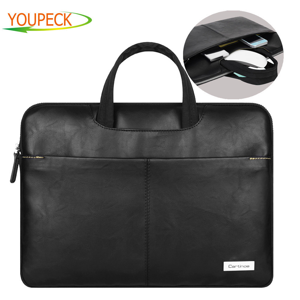 lowest price a11e2 af718 US $21.38 28% OFF|Cartinoe Stylish Pu Leather Laptop Bag Sleeve Carrying  Case Cover HandBag Briefcase for Apple Macbook Air 13/ Pro 15 inch  Retina-in ...