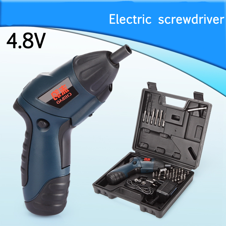 ФОТО 4.8V Electric screwdriver multifunctional household electric screwdriver with reversible rechargeable mini electric drill set