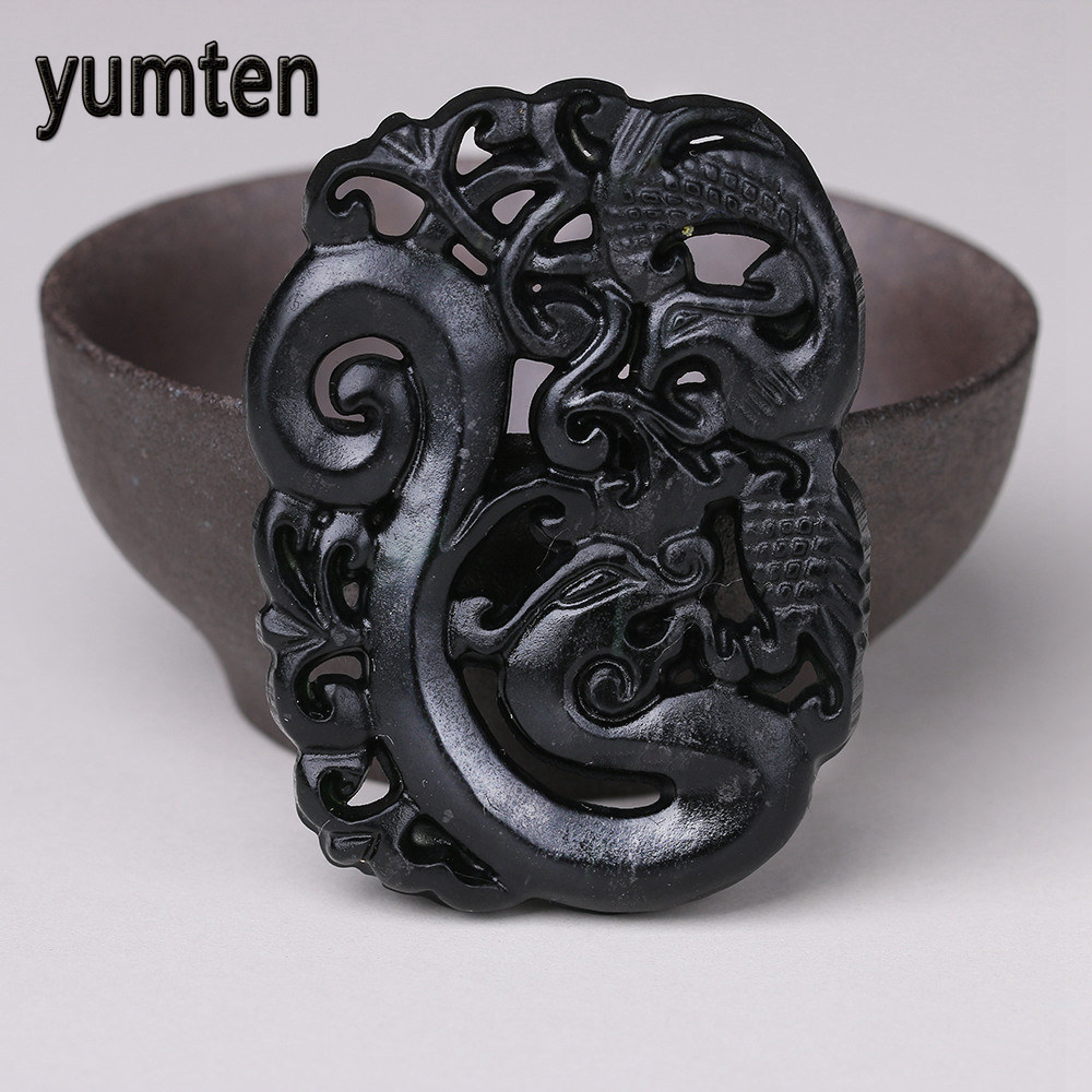 Natural Jade Black Pendant Women Jewelry Pendants Black Obsidian Handmad Carved Chinese Charm Necklace Fashion Hand Carved Gift natural jade black pendant women jewelry pendants black obsidian handmad carved chinese charm necklace fashion hand carved gift