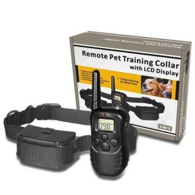 Quality Electronic Dog Collar Remote Control Anti Bark Dog Shock Training Collar With LCD Display 998D Included 2 AAA batteries