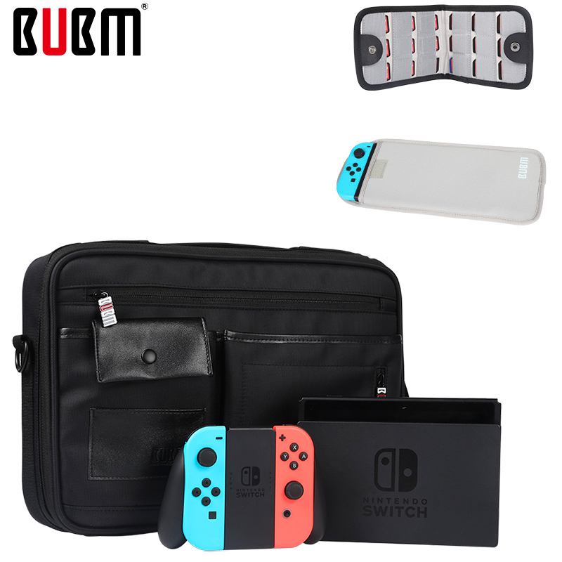 BUBM SWITCH game console console carrying protection playstation travel bag black cards bag shoulder bags for SWITCH box holder bubm professional dj bag for pioneer