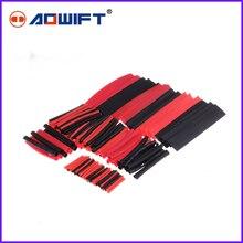 150Pcs 2 : 1 Polyolefin H-type Heat Shrink Shrinking Tubing Tube Red+Black