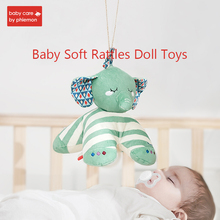 Baby Soft Rattles Toys Cute Animal Doll Crib Bed Strolle Hanging Bells Grasping Stuffed Plush Rotating Rattle Cow Lion BB Stick