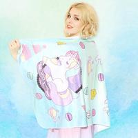 NEW INS Fashion Brand Unicorn Bath towel Face Towel Microfiber Victoria Women Beach bath Towel Drying Washcloth Swimwear Shower
