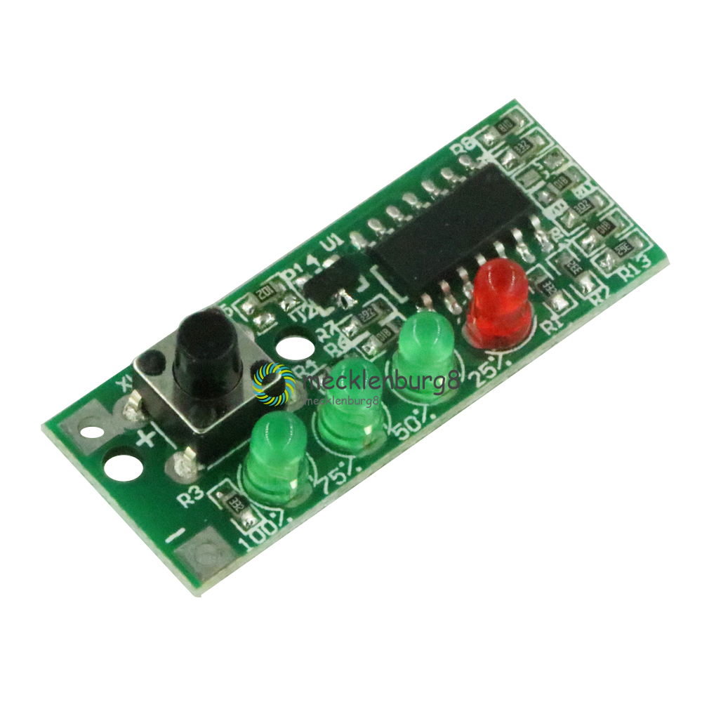 Battery Capacity Indicator 4 LEDs Display Module For 3 S 9-12.6 V Battery