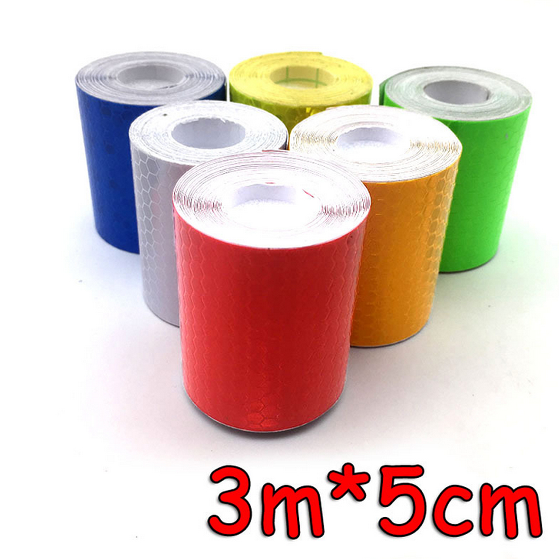 Bicycle Accessories 5cmx3m Reflective Bicycle Stickers Adhesive Tape For Bike Safety Reflective Bike Stickers