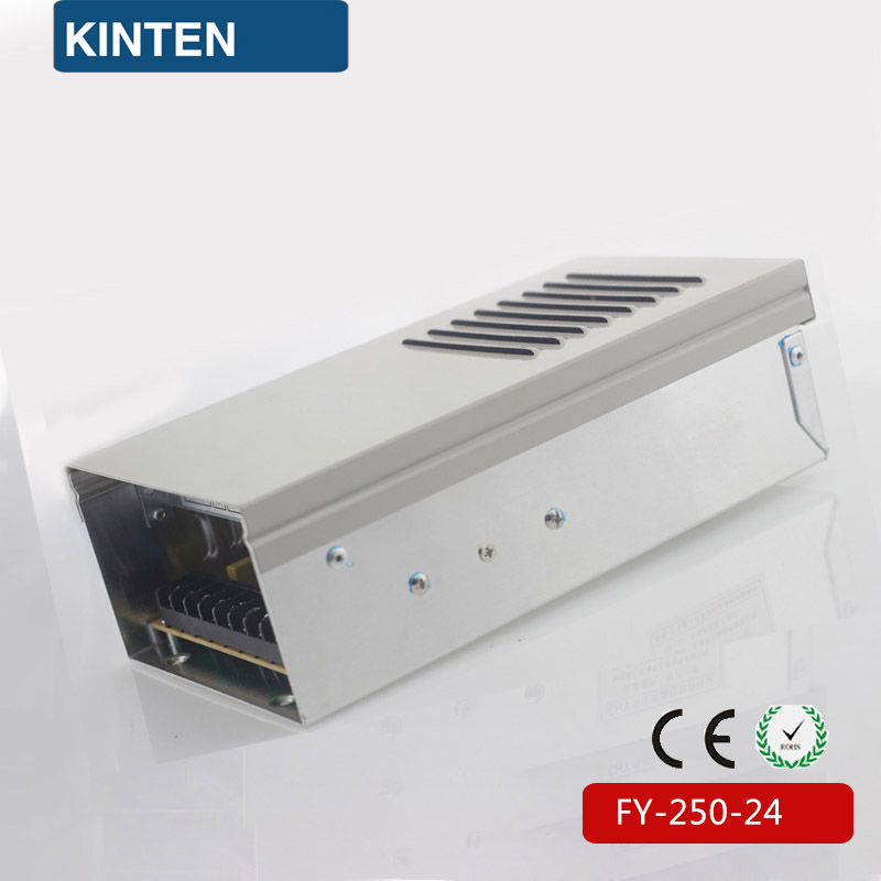 AC to DC single output power supply 24v 250w FY-250-24 rainproof type outdoor voltage regulator 24v smps meanwell 24v 60w ul certificated lpv series ip67 waterproof power supply 90 264v ac to 24v dc