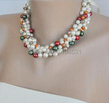 Wholesale Pearl Jewelry Handmade Bridesmaids Wedding Pearl Multiccolor Necklace Brides Gifts Special Occasion – XZN153