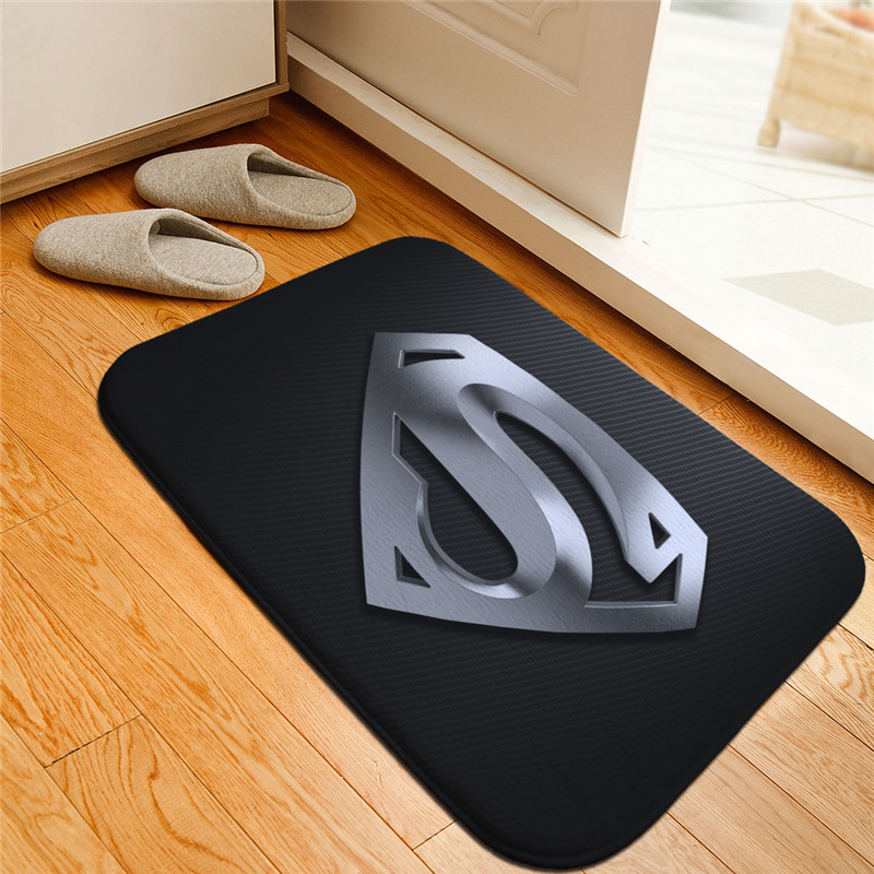 Superhero Superman Printed Floor Mats Anti slip Rugs Batman Figure Carpets Welcome Doormat Bathroom Carpet Kitchen