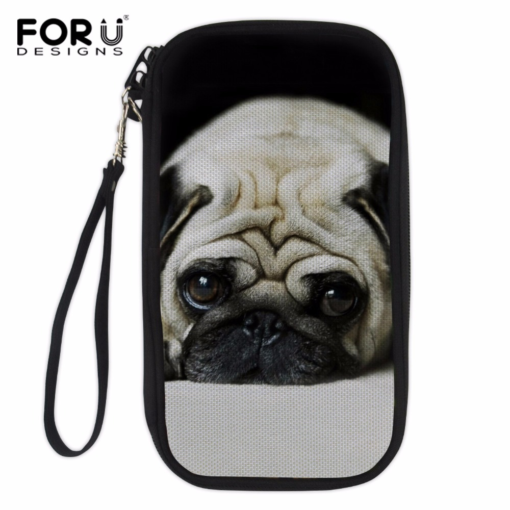 3d Cute Pets Corgi Dog New Solid Color Passport Card Holder Travel Multi Function Portable Card Cover Bag Package Id Tick Folder Card & Id Holders Luggage & Bags