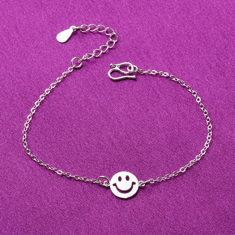 KAMEIER European cute expression 925 sterling silver bracelets for women and Smiling face bracelets for women as party gift