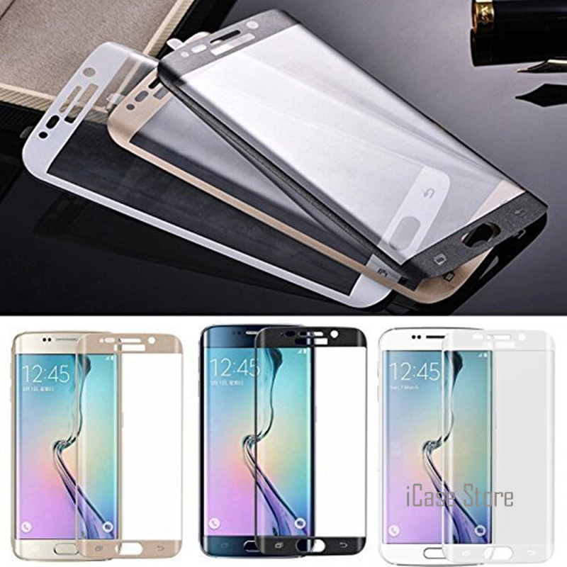 3D Curved Full Screen Cover Tempered Glass For Samsung Galaxy A3 A5 A7 2017 S7 Edge S6 Plus Screen Protector Full Coverage Glass ...