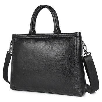 100% sac à main pour hommes en cuir véritable portefeuille sac pour homme pleine fleur en cuir naturel noir pochette d