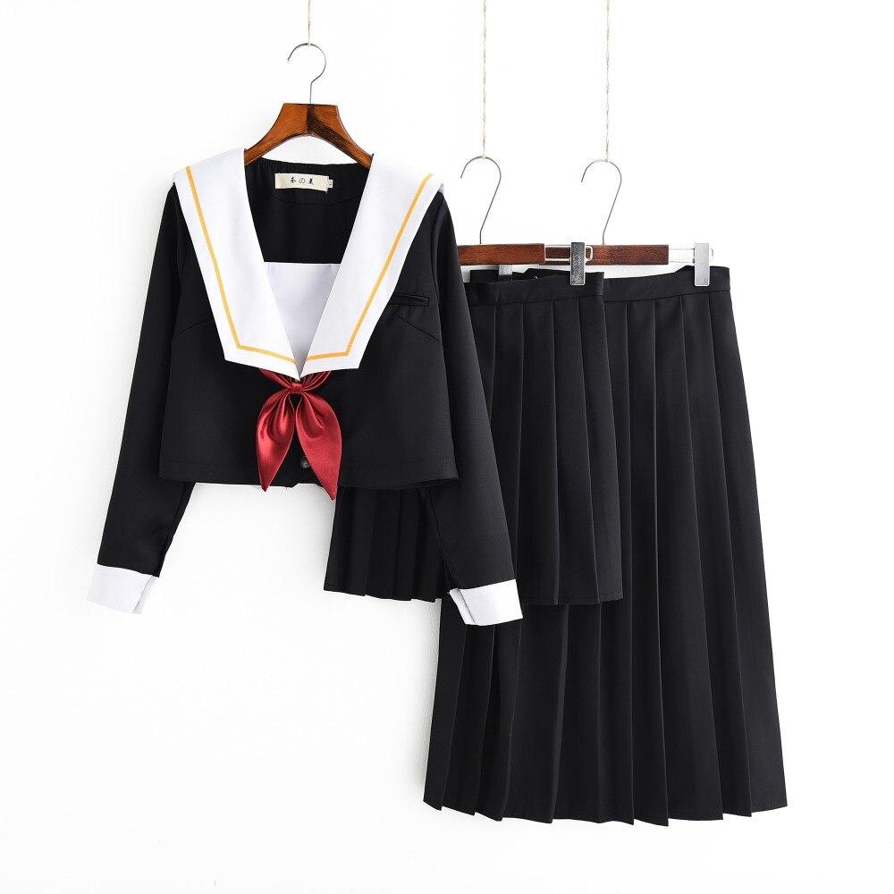 winter school uniform set student uniform tie sailor suit. Black Bedroom Furniture Sets. Home Design Ideas