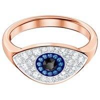 2018 Новое Осеннее кольцо DUO EVIL EYE с бриллиантами, цветные дизайнерские женские ювелирные изделия, вечерние кольца, бесплатная доставка