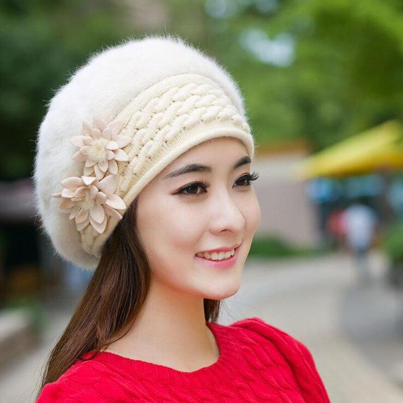 2016 Beanies Women's Winter Hats For Women Knitted Bonnet Caps Winter Women's Hats Brand Ski Wool Fur Sports Beanie Skullies Hat 2