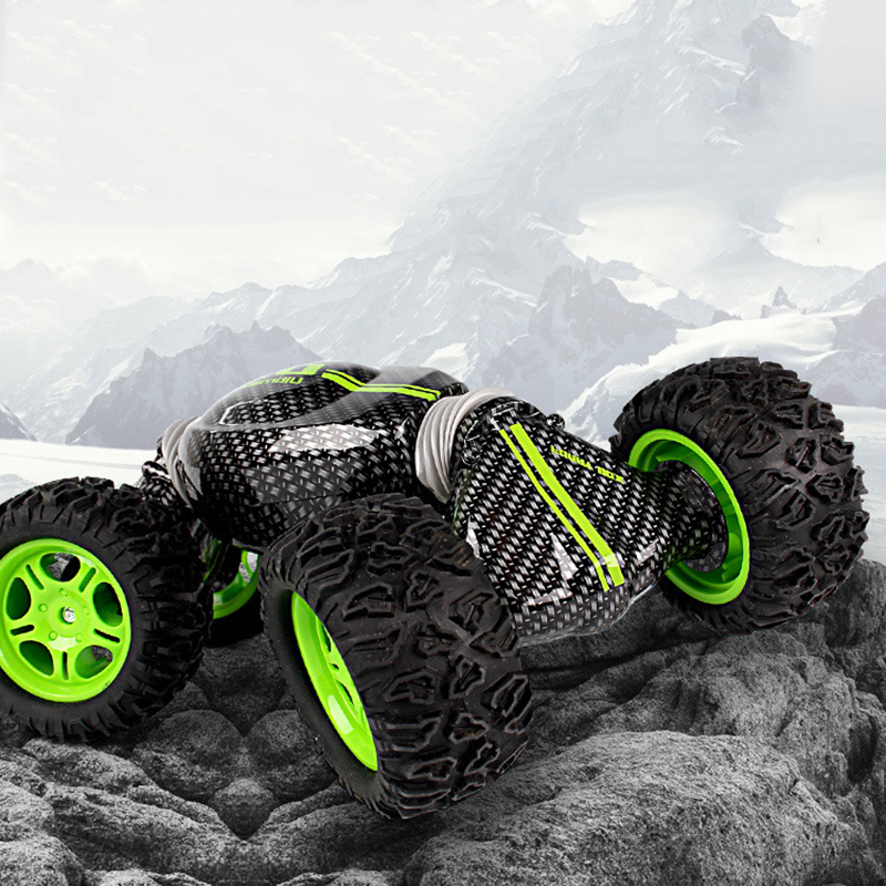 все цены на Double-sided 2.4GHz RC Car One Key Transform All-terrain Off-Road Vehicle Varanid Climbing Truck Remote Control Toys онлайн