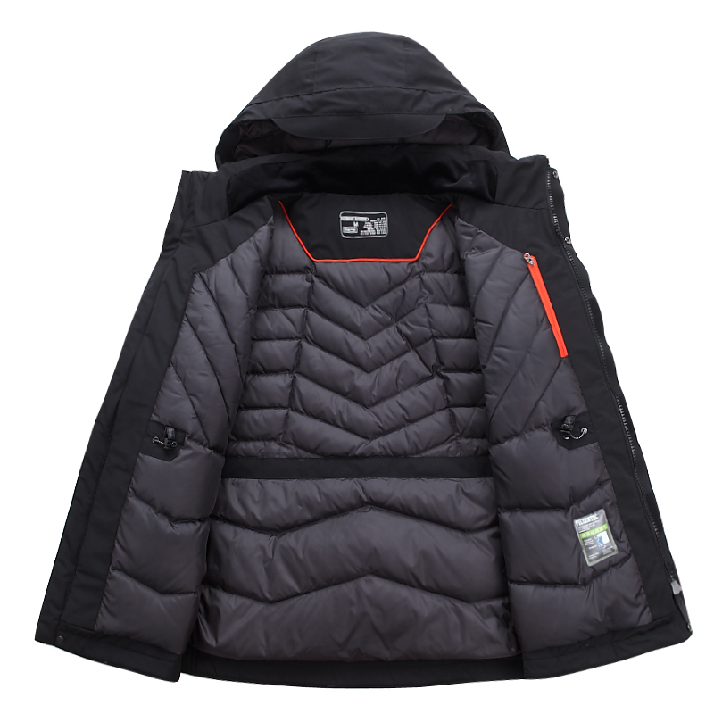 Top Quality White Duck Down Jacket Men Thick Winter 2018 NEW Hat Detached Warm Parka Waterproof Windproof -30 Degrees 3069(China)