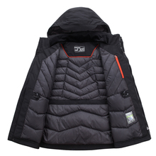 Top Quality White Duck Down Jacket Men Thick Winter 2019 NEW Hat Detached Warm Parka Waterproof Windproof -30 degrees 3069 cheap SNOW PINNACLE Thick (Winter) ZAY-3069 REGULAR Casual zipper Full Solid Broadcloth Hat Detachable Feathers Spliced Zippers