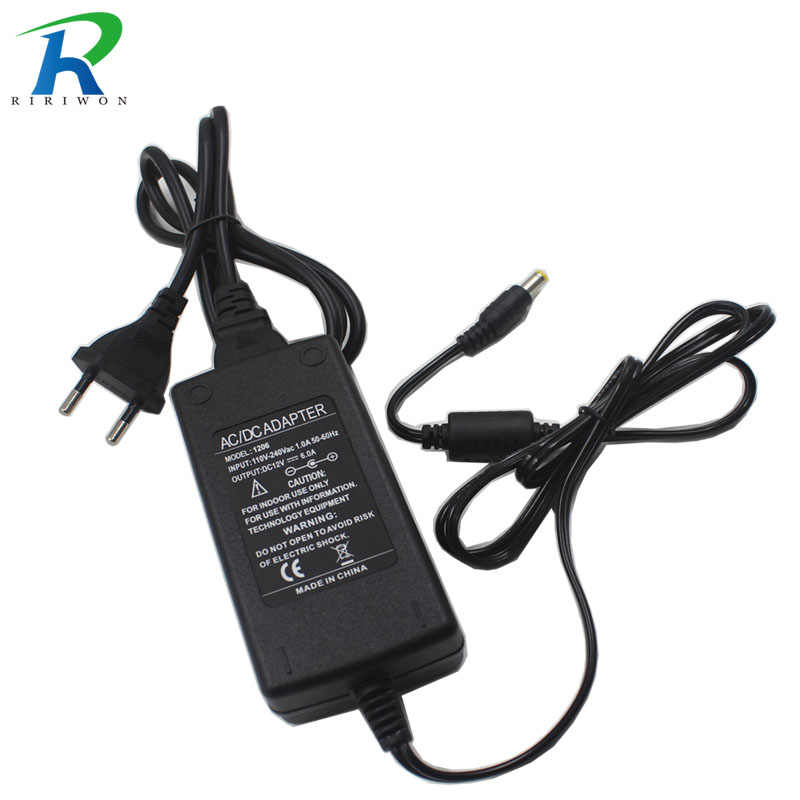 Riri Akan Pencahayaan Mengubah 5.5 Mm X 2.5 Mm Plug DC 12 V 6A 72 W Power Supply Charger Adaptor untuk LED Strip Lampu Kamera CCTV Charger