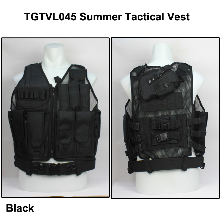 Mesh Tactical Vest Airsoft CQB vest with accessories Summer mesh tactical vest with