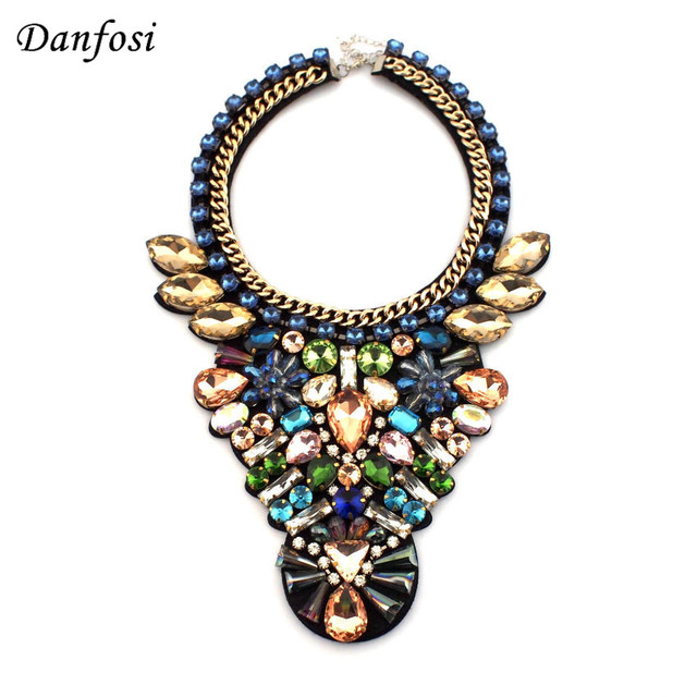 Luxury Shining Crystal Beads Choker Collar Wedding Dress Accessories Jewelry Fashion Necklace For Women N2508