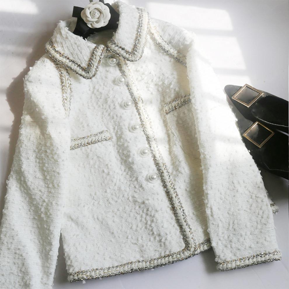 Kenvy Printemps Luxe Marque Femmes Haut Mode Court De Élégant Tweed Gamme Manteau Mince D2WEHIY9