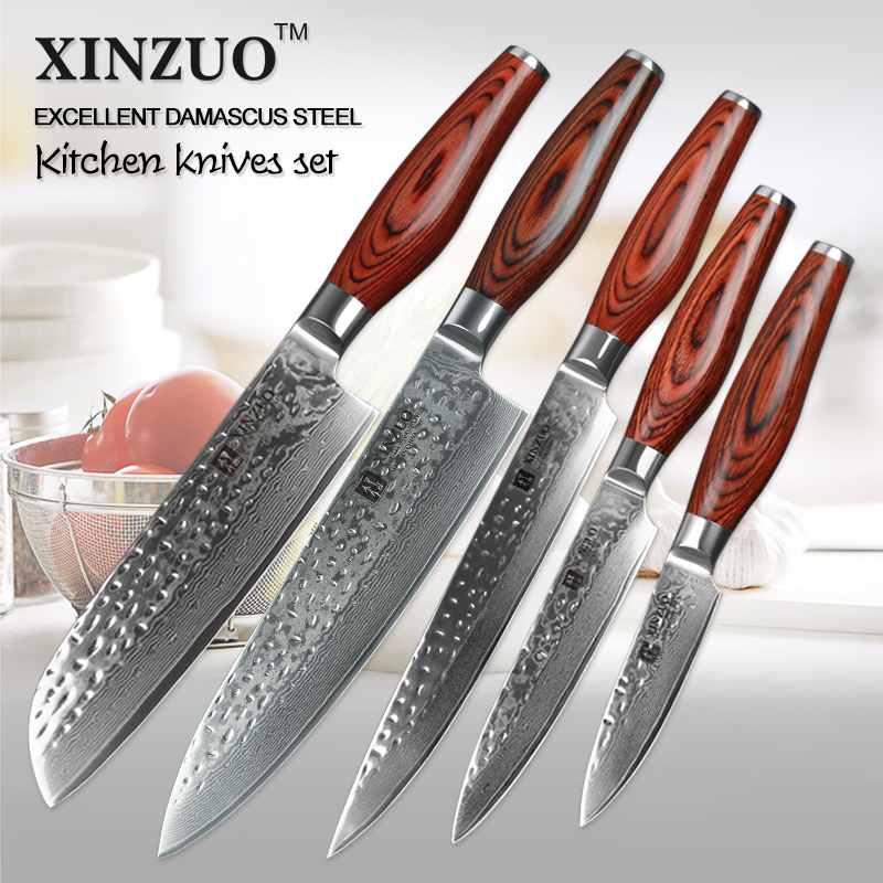 japanese kitchen knives for sale aliexpress com buy 5 pcs kitchen knives set japanese vg10 damascus steel kitchen knife set 6812
