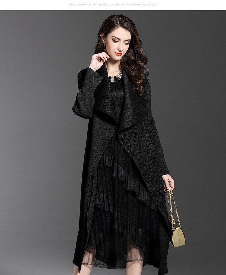 Women's Autumn Dress New Folded Woman's Windswear Long Cape Coat Large Size Fashion