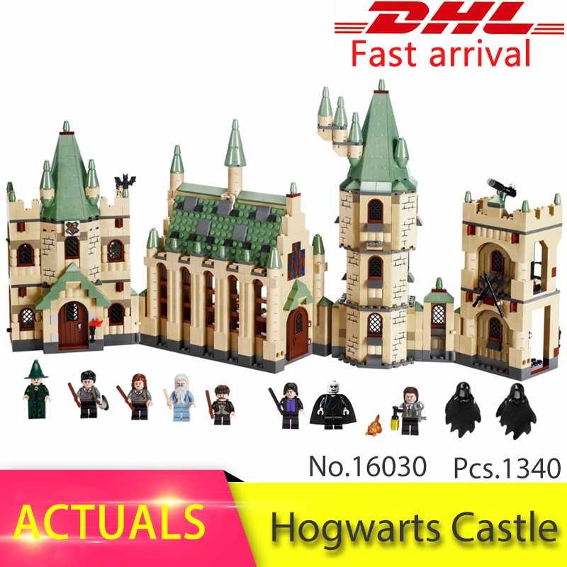 LEPIN 16030 1340pcs Movie Series The Hogwarts Castle Set Building Blocks Bricks 4842 Educational Toys For Children Gift lepin 16030 1340pcs movie series hogwarts city model building blocks bricks toys for children pirate caribbean gift