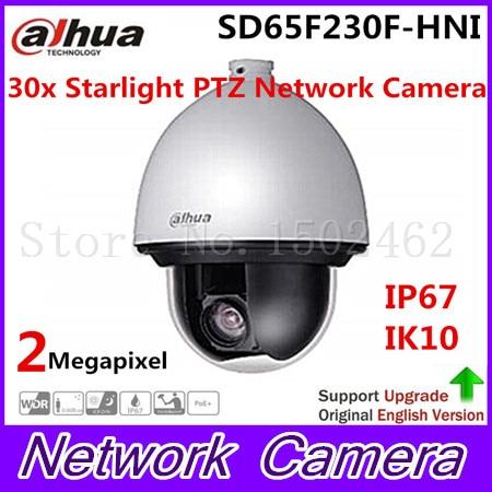 цена на Dahua Starlight Network PTZ Dome Camera IP67 support Auto tracking PTZ and IVS SD65F230F-HNI,free DHL shipping