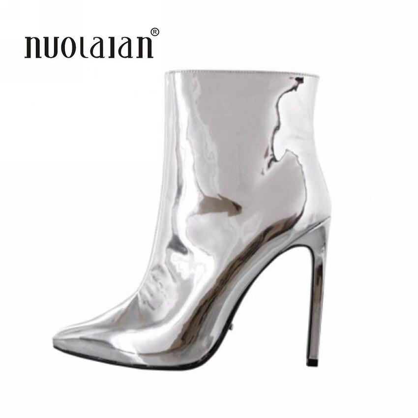 где купить Women Boots Brand 2018 Sexy Pointed Toe Ankle Boots for Women High Heels Fashion Autumn Winter Boots по лучшей цене