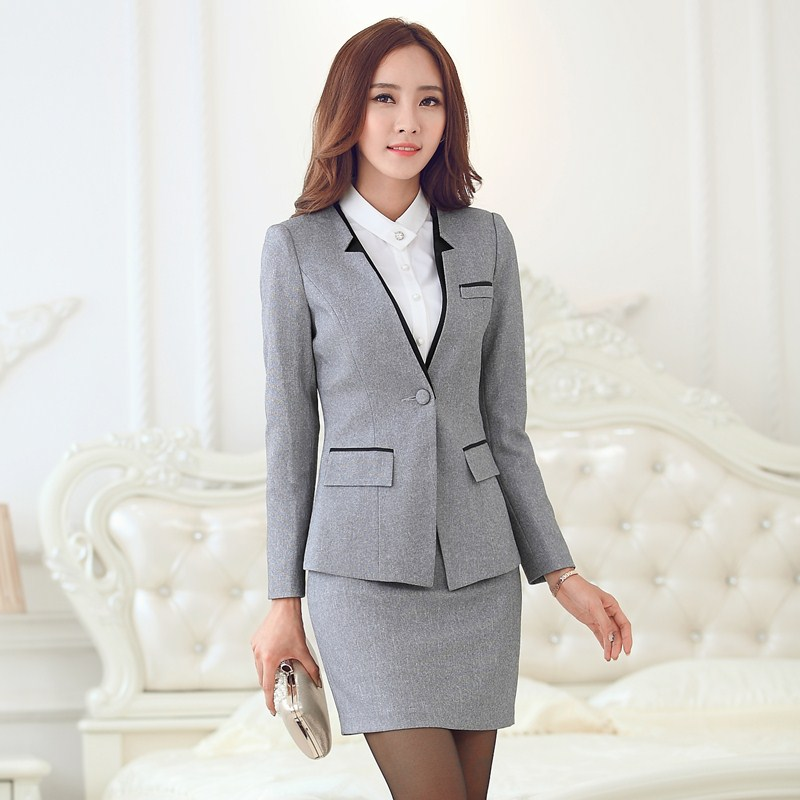 Womens Pinstripe Skirt Suit