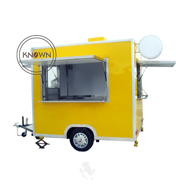 Kitchen Trailer Green Island Fast Food Truck For Sale Bakery Cart Churros Mobile