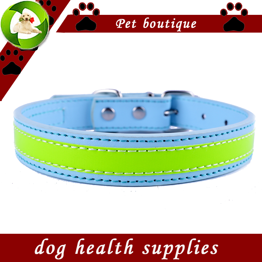 新しいデザイン反射犬の首輪点滅革首輪犬安全な小さなペット製品犬用品